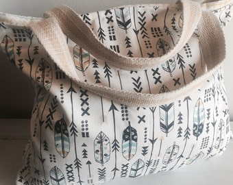 Diaper bag, diaper tote, beach bag, beach tote, tribal bag, tribal tote, tribal, rustic, arrows, reversible bag, extra large bag, purse