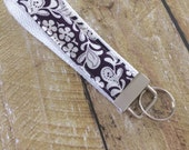 Blackberry Damask Keychain - Wrist Keychain - Wristlet Key Chain - Key Fob - Wristlet Key Fob - Accessories - Key Holder - Key Ring