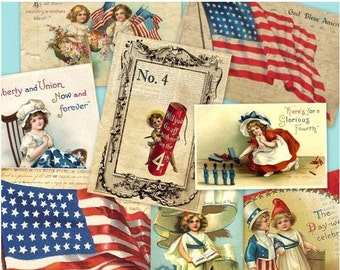 SALE JULY 4th  collage Digital Images -printable download file-