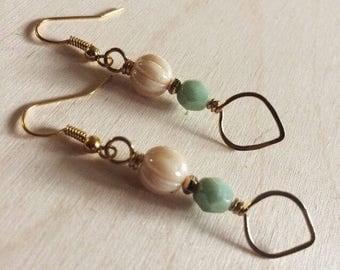 DRIFT LEAVES dangle vintage inspired teardrop earrings