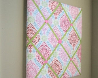 On Sale 16x20 French Memory Board or Bow Holder, Ribbon Board, Photograph Organizer, Hot Pink, Light Pink, Red, Bubblegum, Blue, Green, Pais