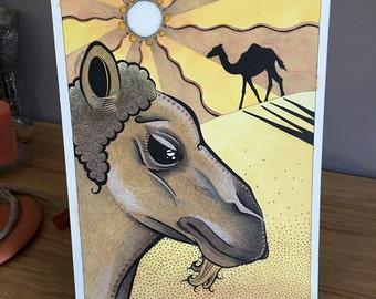 Dromedary Camel as Totem - Original Art