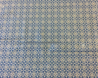 Tim Holtz Fabric by the Yard - Correspondence II - Sophisticate in Blue -Quilter's Cotton