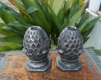 Pineapple Candle Holders Home Design / Island Style Medal Pineapple Candle Holders / Tropical Southern Hospitality