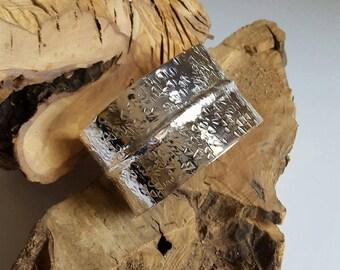 Fine Silver Fold Formed Cuff