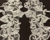 Detachable Illusion Ivory Lace Straps to Add to your Wedding Dress