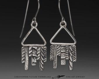 Cuttlefish Triangle Dangle Earrings