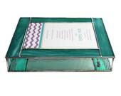 Stained Glass Keepsake Bat Mitzvah Invitation Gift Box