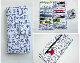Bifold Card Wallet, women's wallet, Card Organizer Wallet, 38 slots Gift Card Wallet, Credit Card Wallet, Purse Coin CityChic ready to Ship