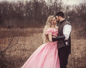 Pink Sparkle Cinderella Fantasy  gown size medium