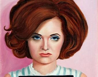 Con-artist Carol - Original Oil Painting Portrait