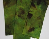 GREEN/BROWN MOTTLED mix wool for rug hooking and appliqué