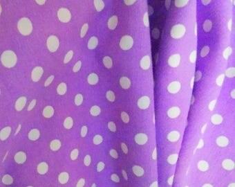 Magic purple dots 1 yard cotton lycra knit