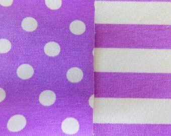 Magic purple dots and stripes 1 yard combo