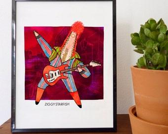 Ziggy Starfish Fine Art Print - home decor, wall decor