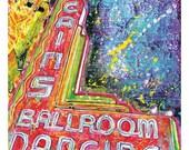 ON SALE Cain's Ballroom Dancing - Neon Sign - 12 x 18 High Quality Art Print