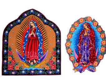 Guadalupe - Patches - TShirts - Mexican Folk Art - Iron On Patch - Religous - Tote Bag - Large - Pillow - Senorita - Tattoo - Virgin Mary