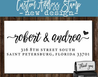 Modern Address Stamp / Family Address Stamp / RSVP Address Stamp / Self Address Stamp / Script Address Stamp / Modern Calligraphy RSVP 2211