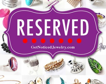 RESERVED for Emily - 8 x Custom Initial Necklaces with Pale Pink and Silver Pendants on Sterling Silver Chains