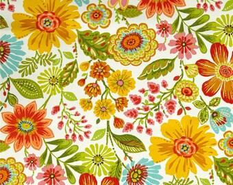 Delightful Yellow Orange Floral Shower Curtain, Brightly Colored Shower Curtain, Fun  Summer Blossom Bathroom Decor