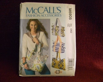 Uncut McCall's Pattern 6905 Fashion Accessories Bags