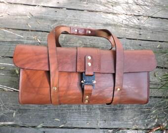 Keystone Tool Bag #1 / Mechanics Bag/ Latigo / Handcrafted / Leather Tote / Leather Bag / Minimalist Leather carrier