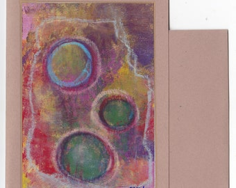 Abstract Fine Art Note Card - Three