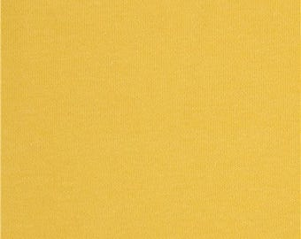 206845 solid yellow Cloud 9 organic knit fabric Sprout from the USA