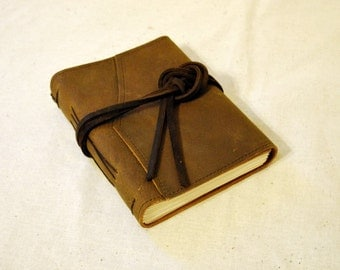 SUMMER SALE:  Medium Rugged Leather Journal with Recycled Paper