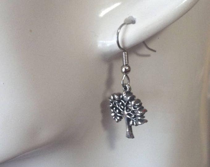 Tree earrings made with Australian Pewter and Surgical Steel hook