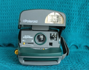 Working Polaroid 600 Camera -Onestep Express- Green-Film tested
