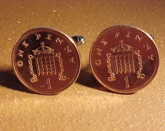 England Coin Cuff Links