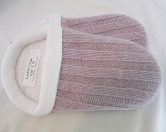 Lavender Knit  Sweater Slippers - Ladies Large 9-10