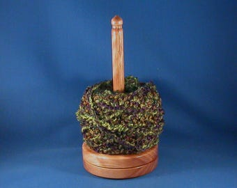 Big Leaf Maple Yarn/Thread Holder - Specialty Lacquer Finish