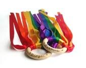 Personalized Rainbow Toy - Hand Kite - Rainbow Toy - Custom name