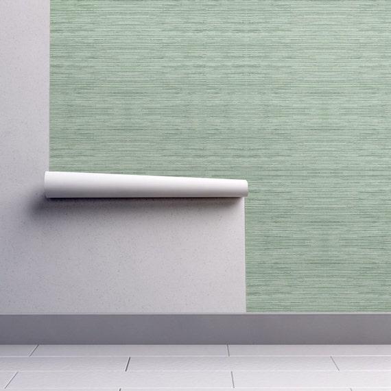 Green Grasscloth Wallpaper: Green Grasscloth Wallpaper Grasscloth In Coastal Green By