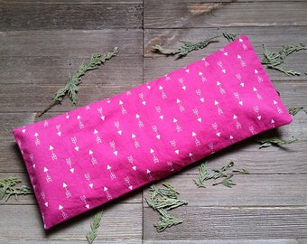 Aromatherapy Neck Pillow Flax Seed Organic Dried Lavender Removable Cover Hot Cold Therapy Microwave Heating Pad Pink Arrows Free Shipping