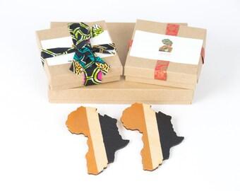 Boho African wooden earrings