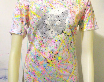 One of a Kind BLIM! Cat Splatter T-Shirt