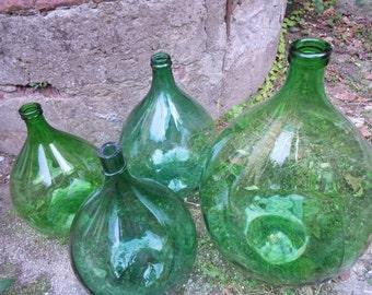 Classic Large VINTAGE ITALIAN DEMIJOHN (Damigiana, or wine bottle)  (#8)