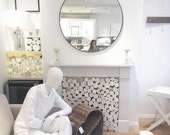 Scandi-Style Decorative Logs Whitewashed for interior display...fill an empty alcove or fireplace!