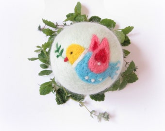 Felt Ornament,Bird,Dove,Needle felted Bauble,Felt Christmas ornament,Felted Bauble