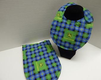 Newborn Baby  Bib and Burp Cloth Set John Deere