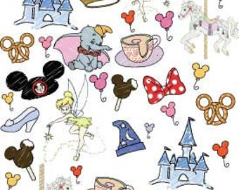 PRE-ORDER ends 7/24 Disney World Favorite Things Doodle Fabric
