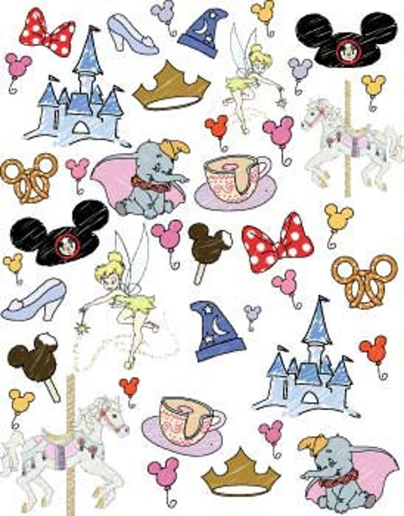 Pre Order Disney World Favorite Things Doodle Fabric