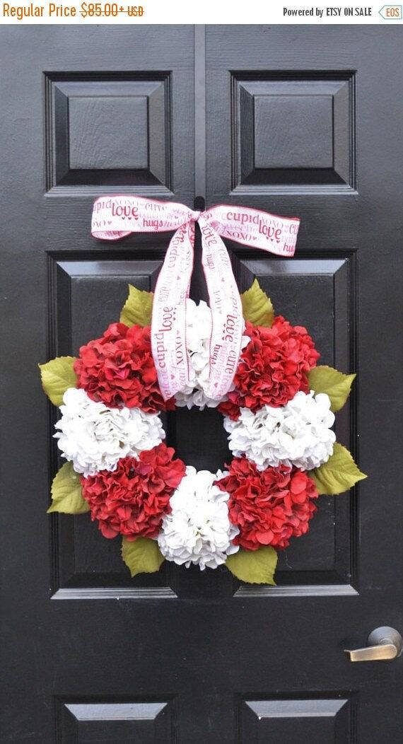 SPRING WREATH SALE Valentine's Hydrangea Wreath- Hydrangea Wreaths- Ready to Ship- Spring Wreaths- Year Round Wreaths- Flower Wreaths- Chris