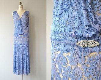 La Fontaine dress | vintage 1920s dress | silk lace 20s dress
