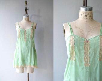 Menthe silk step-in | vintage 1920s lingerie | 20s silk lingerie