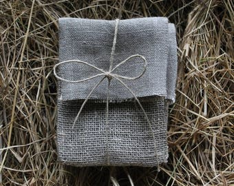 Set of 5 USB packaging natural linen pouches.Linen envelopes. Favor /gift/candy  bags. Wedding favors. Baby Shower Christening.