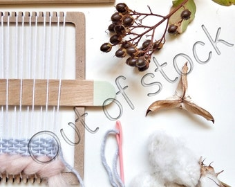 Out of stock! Will be back in stock by mid January DIY Weaving Kit / Weaving loom kit for hand weaving wall art